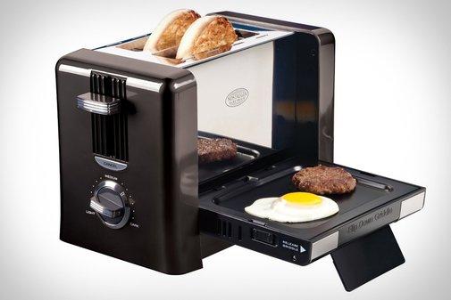 Flip-Down Breakfast Toaster   Uncrate