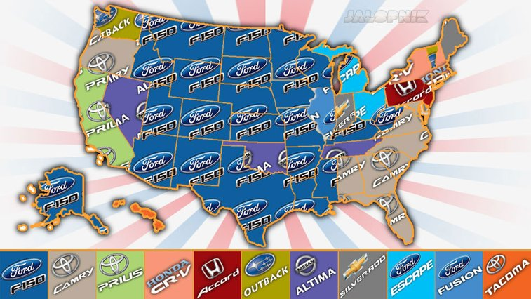 The Most Popular New Cars In Each State