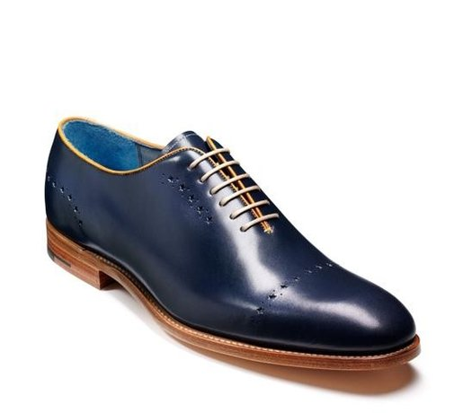 Barker Shoes - Mcgregor Navy Calf - Wholecut Design | Made in England