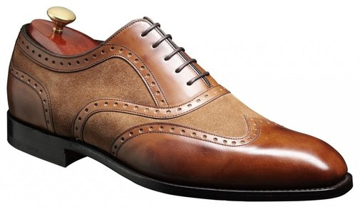 Barker Shoes - Cambridge Brown Calf & Snuff Suede - Made in Uk