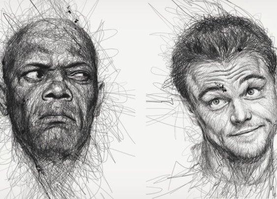 "Vince Low's ""Faces"" Scribble Portraits | Cool Material"