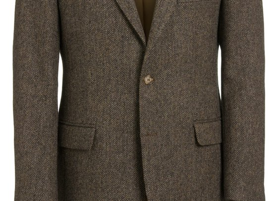 Magee Men's Jacket - Donegal Tweed Brown Herringbone