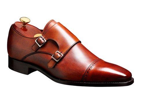 Barker Shoes - Lancaster Rosewood Calf - Double strap monk shoe