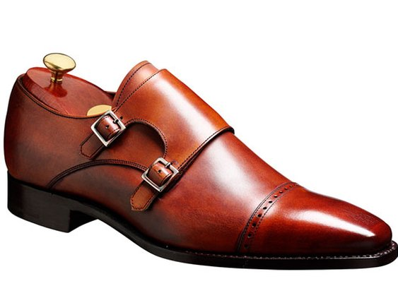 Barker Shoes - Lancaster Rosewood Calf - Double strap monk shoe