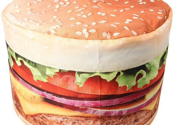 Relax on a Hamburger Beanbag