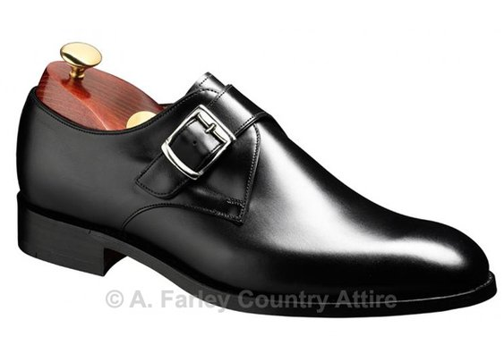 Barker Shoes - Northcote Black Calf - Single Monk Strap | New 2013
