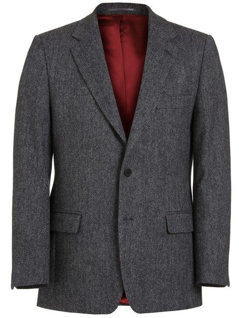 Magee Men's Jacket - Donegal Tweed Grey Herringbone - Magee1866