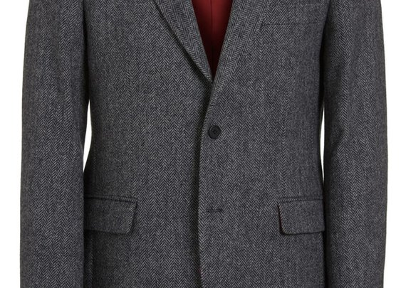 Magee Men's Jacket - Donegal Tweed Grey Herringbone - Magee1866