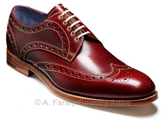 Barker Shoes - Thompson Cherry Calf - Brogue | New 2013