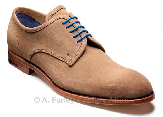 Barker Shoes - Edwards Taupe Suede - Derby Style | New 2013