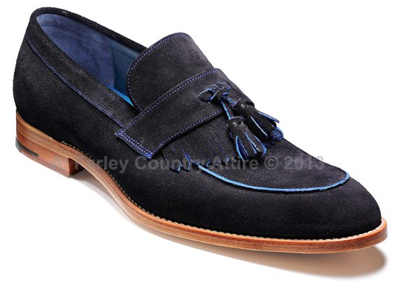 Barker Shoes - Christie Navy & Class Blue Suede - Loafer | New 2013
