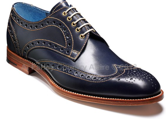 Barker Shoes - Thompson Blue Burnished Calf - Brogue | New 2013