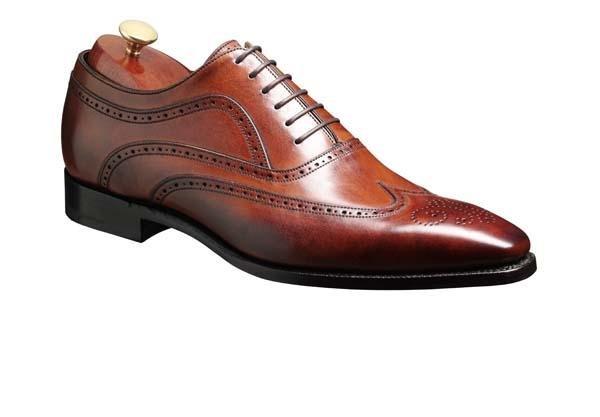 Barker Shoes - Vivaldi Rosewood Calf | Stylish lace up brogue shoe.