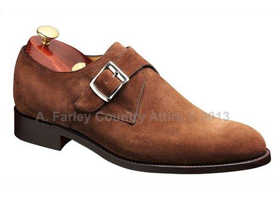 Barker Shoes - Northcote Castagnia Suede - Monk Strap | New 2013