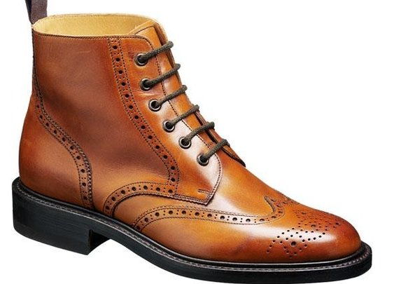 Barker Boots - Harrison Cedar Calf - Country Brogue Boot