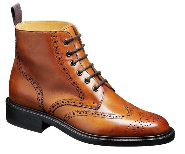 Barker Boots - Harrison Cedar Calf - Country Brogue Boot