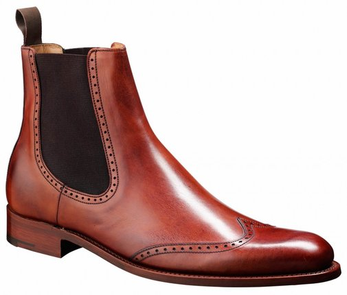 Barker Shoes - Luxembourg Rosewood Calf - Chelsea Boot Style Wide-Fit