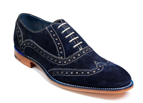 Barker Shoes - Grant Navy Cola Suede -