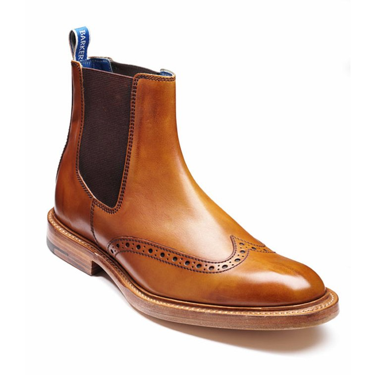 Barker Boots - Pearce Cedar Calf - Shape 460 - Brogue Style Boot