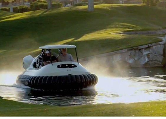 Bubba Watson flies high with hovercraft golf cart video - Fortune Tech