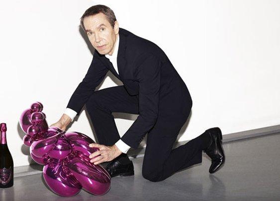 Jeff Koons creates artwork for Dom Pérignon Rosé Vintage 2003