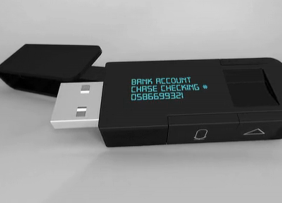 myIDkey voice-searchable USB drive makes password management portable