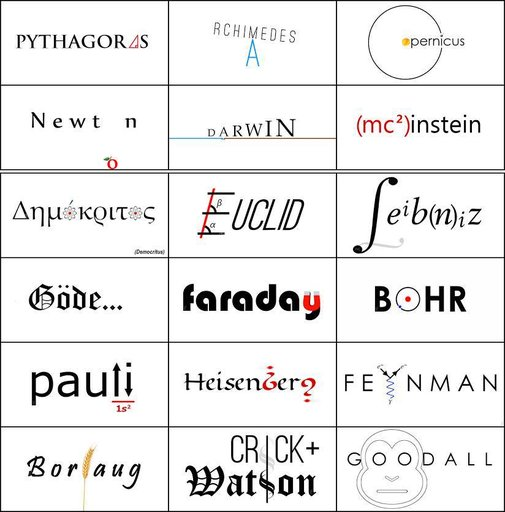 If Great Scientists Had Logos…