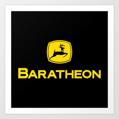 Sigil of House Baratheon 2012 Art Print by technicolordream | Society6