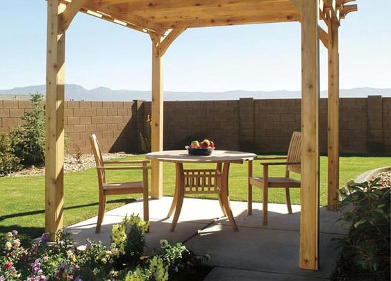 How to Build a Pergola - DIY Building a Pergola - Popular Mechanics