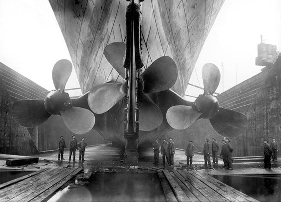 Propellers of the Titanic.