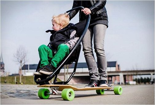 Longboard Stroller: Not Sure If Good Idea Or Bad