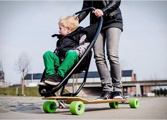 Longboard Stroller: American parents….not going to like this one….