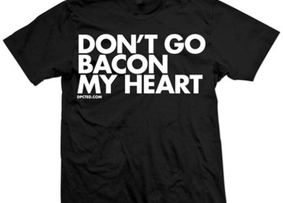 Fab.com | Don't Go Bacon My Heart Tee Blk