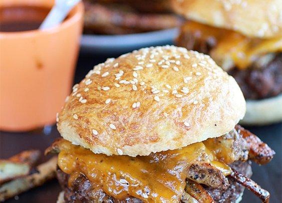 French Fry Bourbon Burger