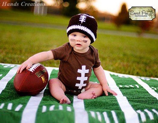 Boy Touchdown Football Onesie Set