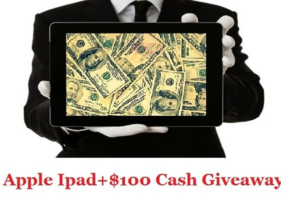 Win Apple iPad and $100 Cash via Paypal International Giveaway Ends 20/07