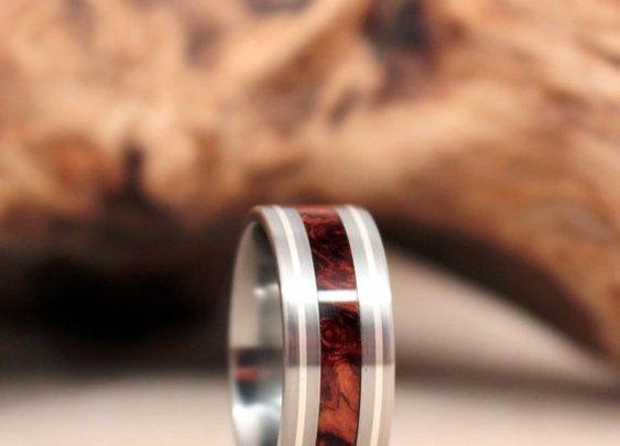 Handmade Wood & Titanium Rings : 101 or Less