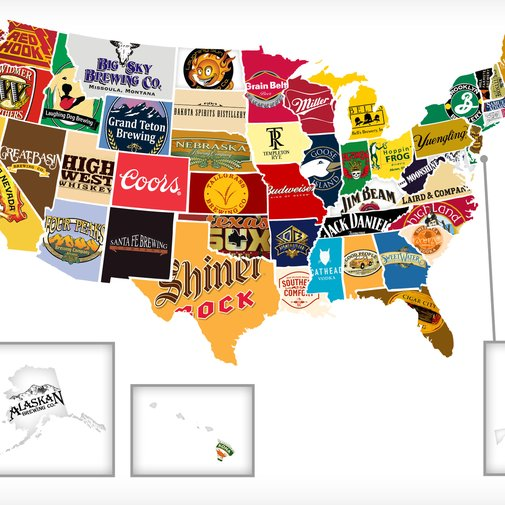 Red, White, and Booze: Mapping All 50 States' Most Iconic Beer/Hooch - Thrillist Nation