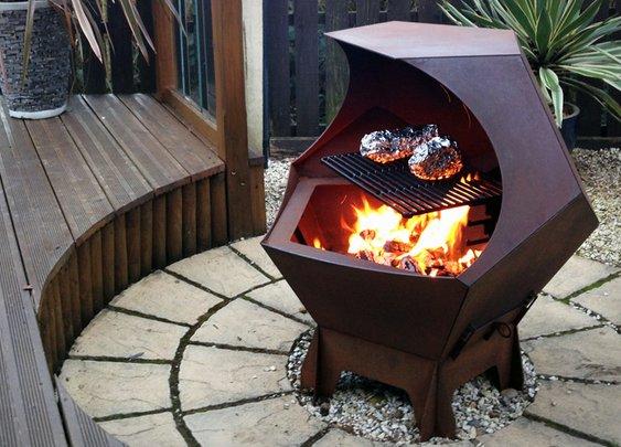 Decahedron Fire Pit | Uncrate