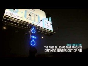 UTEC – Potable Water Generator: Billboard that Produces Water from Atmospheric Humidity