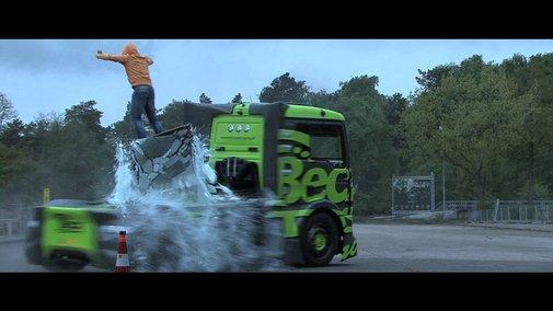 1,100 Horsepower Semi Truck Driver Doing Crazy Drifts & Stunts on a Gymkhana Course
