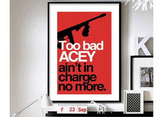 "Home Alone 'Acey said 10%' - 11"" x 17"" Wall Print"