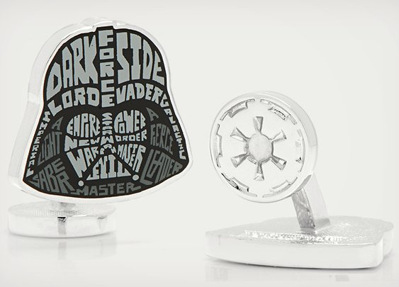 Star Wars Typography Cufflinks | Cool Material