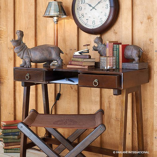 dark wooden desk by the country cottage shop   notonthehighstreet.com