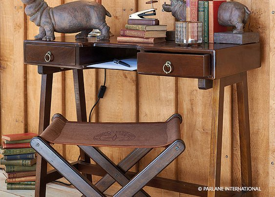 dark wooden desk by the country cottage shop | notonthehighstreet.com