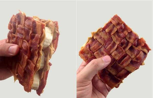 Bacon Weave Elvis Sandwich Disowns Bread, Was Never Fond of It Anyway