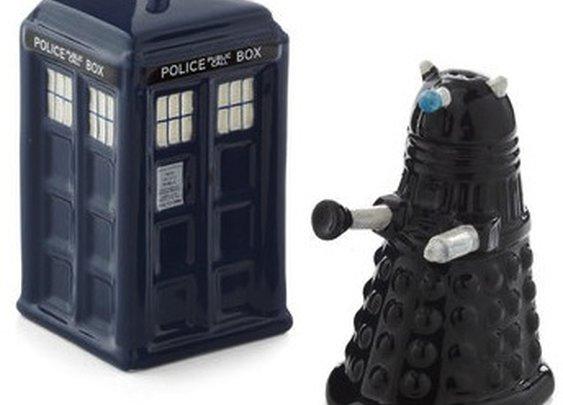 Doctor Who Salt & Pepper Shaker Set