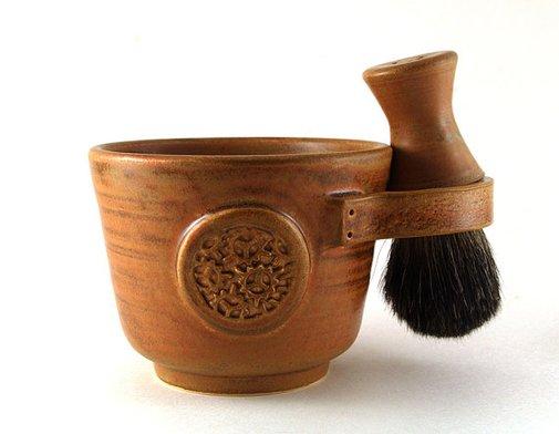 Mens Shaving Set Brown: Steampunk Industrial-inspired Shave Mug | etsy