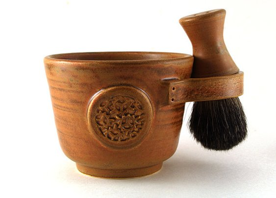 Mens Shaving Set Brown: Steampunk Industrial-inspired Shave Mug | etsy