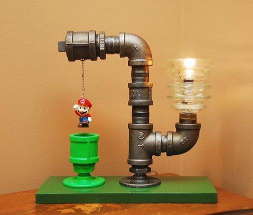 Mario Bros. Theme Industrial Pipe Lamp